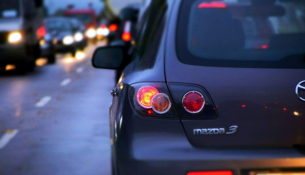 car in traffic jam